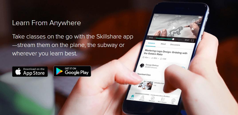 Skillshare App Android und Appstore