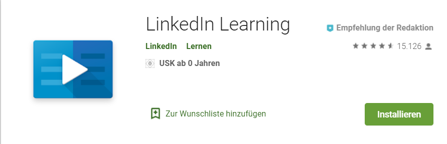 LinkeIn Learning App Screenshot playstore