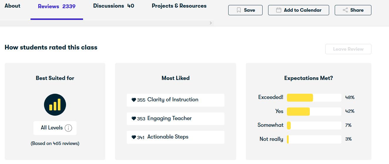Reviews Skillshare Screenshot