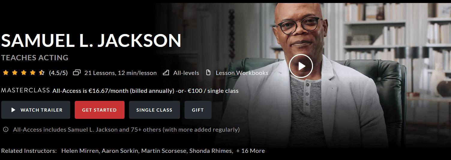 Masterclass Kurs von Samuel L. Jackson