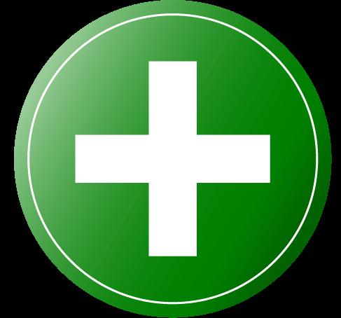 grünes plus Zeichen