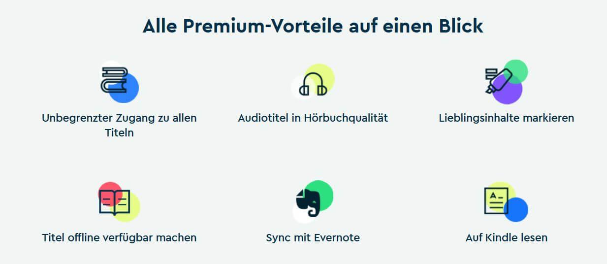 Blinkist Premium Vorteile