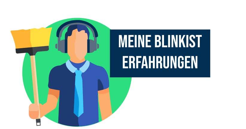 Blinkist Erfahrungen Mann mit Kopfhörern und Putzlappen