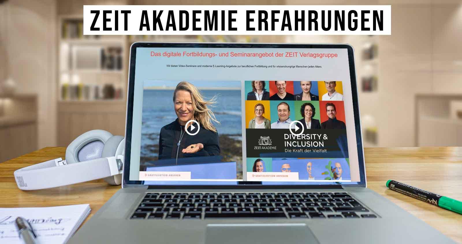 Zeit Akademie Erfahrungen Laptop Screenshot