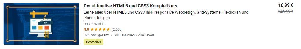 Udemy html css kurs