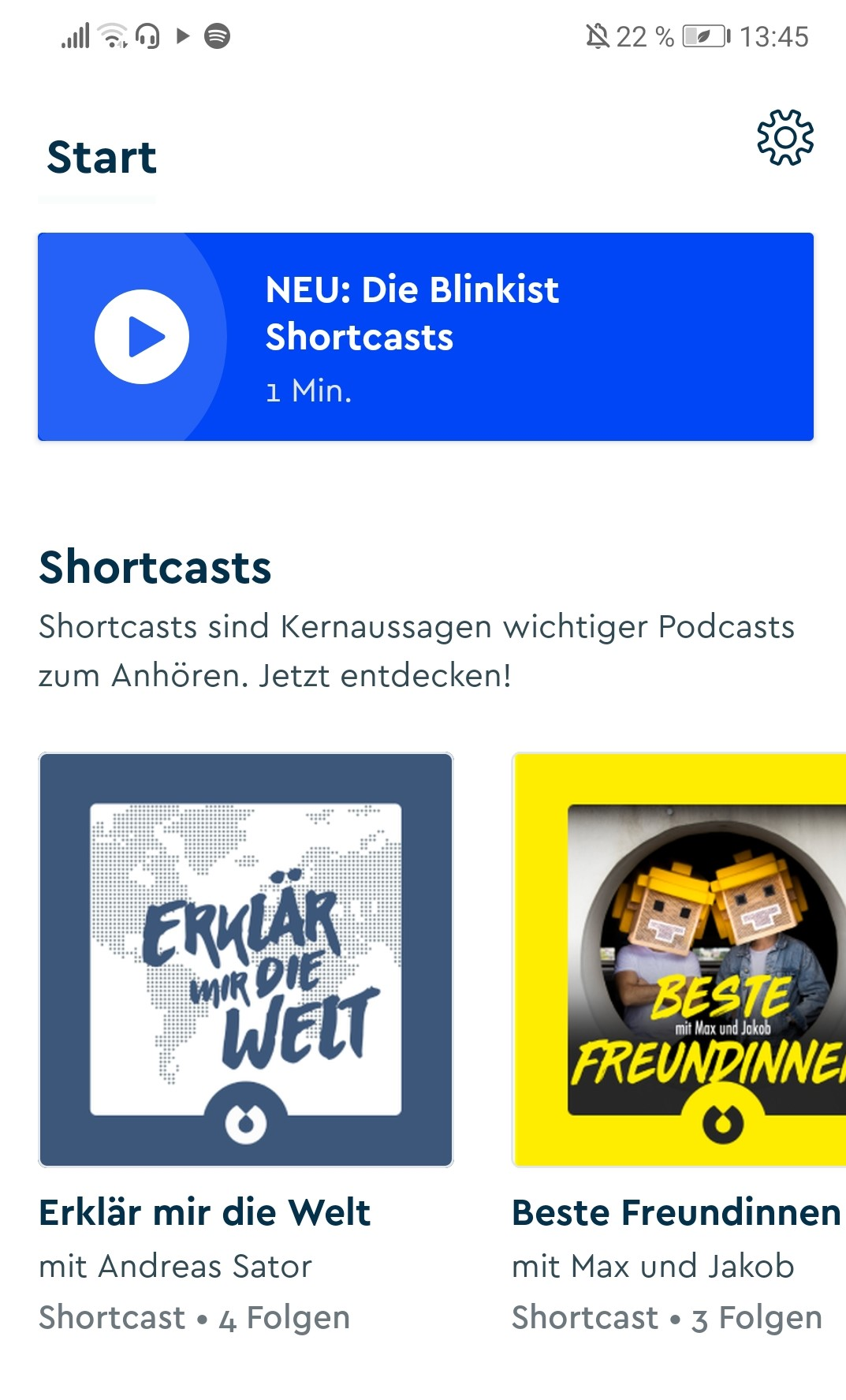Blinkist Shortcast Screenshot