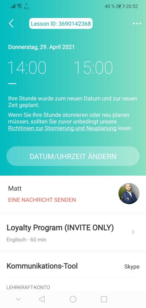 italki app screenshot lehkraft kontaktieren