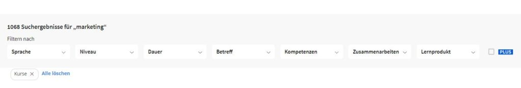 Coursera Filter Screenshot