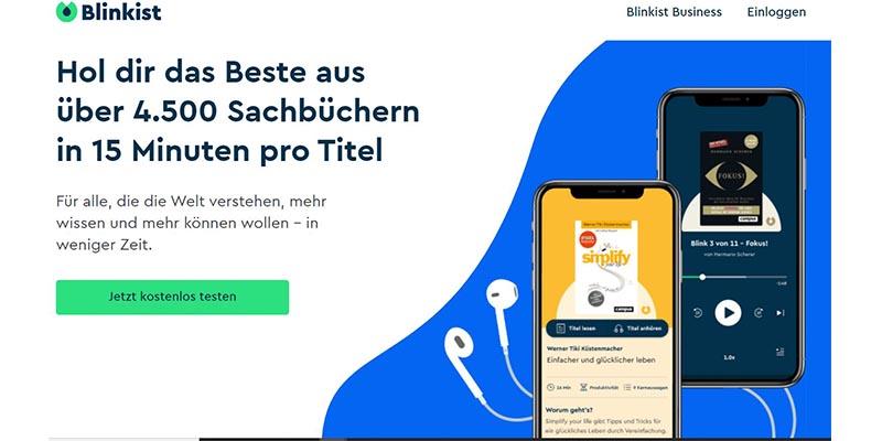Blinkist Webseite Screenshot